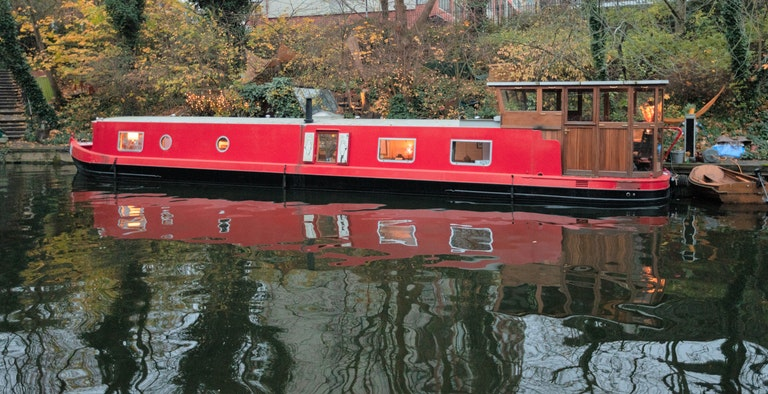The Big Red Houseboat