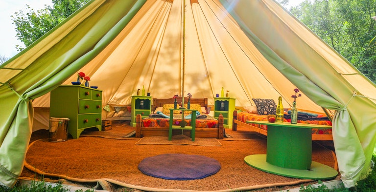 West Lexham Bell Tent Glamping