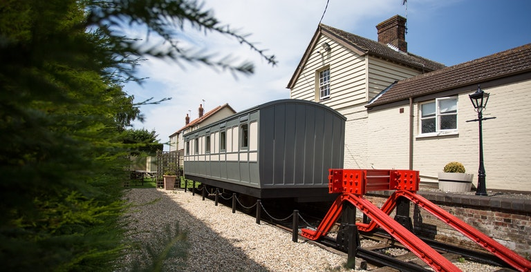 The Railway Carriage at The Hoste
